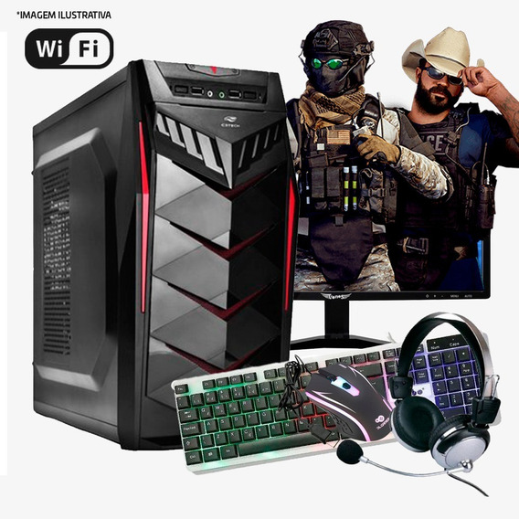Pc Gamer I3 4ª, 4gb Ram Ddr3, Hd 1tb, Gtx 550ti 1gb Completo