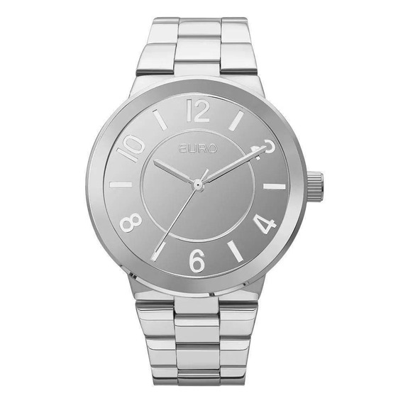 Relógio Feminino Prata Fundo Cromado Euro Eu2036ylb/3k