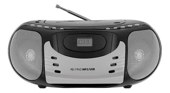 Boombox Philco Rádio Fm Usb Cd Bivolt Pb119n2 Preto