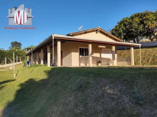 Linda Chácara Com 2 Dormitórios, Piscina, Jardim, Vista Deslumbrante, À Venda, 1000 M² Por R$ 420.000 - Zona Rural - Pinhalzinho/sp - Ch0938