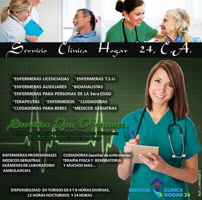 Enfermera Enfermero Servicio Enfermería Cuidadora Domicilio