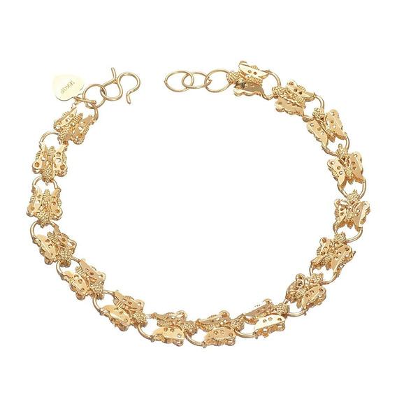 Pulseira De Borboleta De Ouro 18k Dourada Para Mulheres