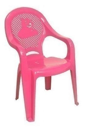 Poltrona Plástica Infantil Rosa Decorada 28126