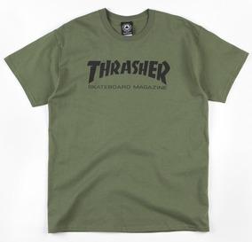 Playera Thrasher Skate Mag Army Green