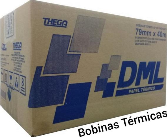 Bobina Térmica 80x40 P/ Impressoras Elgin - Salmão