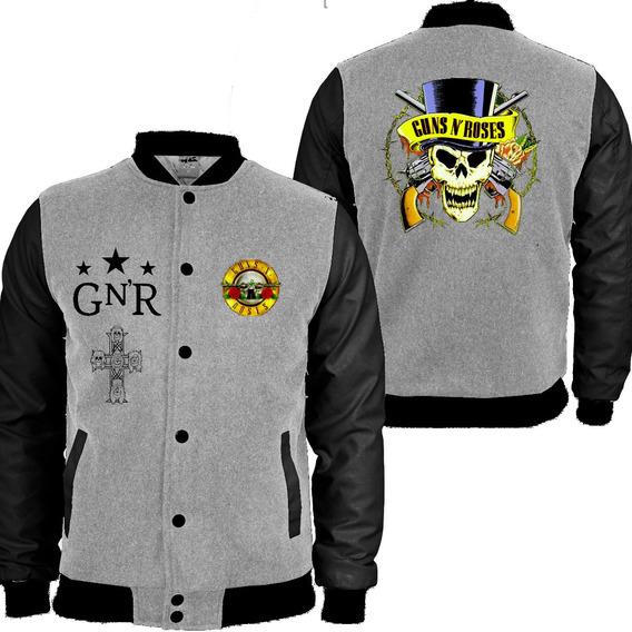 Casaco Moletom Guns N Roses College Blusa Moleton Roses 44