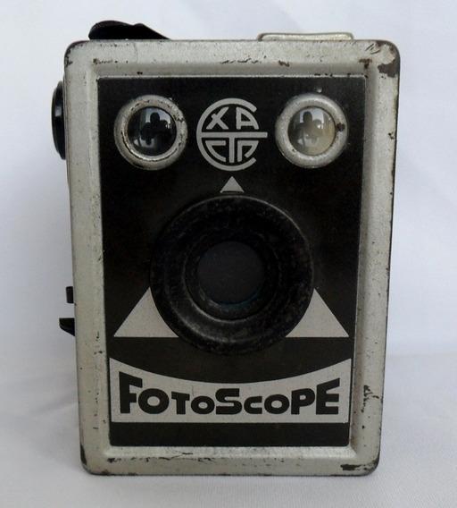Máquina Fotográfica Antiga Fotoscope Analógica Coleção