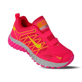 Tenis Nike Running Niña Rosa Flourecente Neon (mas Colores)