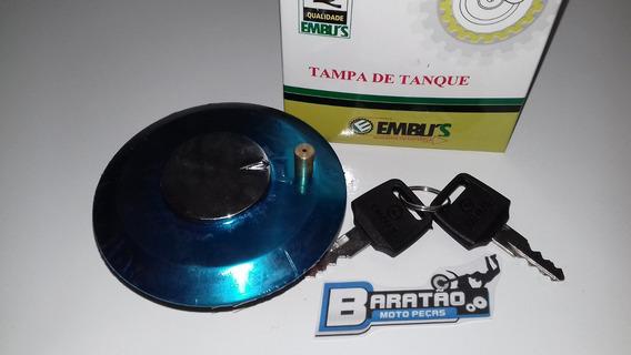 Tampa Do Tanque Cromada C/ Respiro Xls Xlr 125 Nx 150 200 Xr