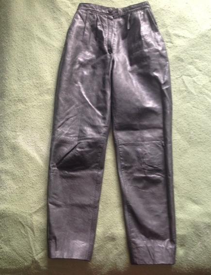 Pantalón De Cuero Verde Olivo, Dama, Talla 8. 15e