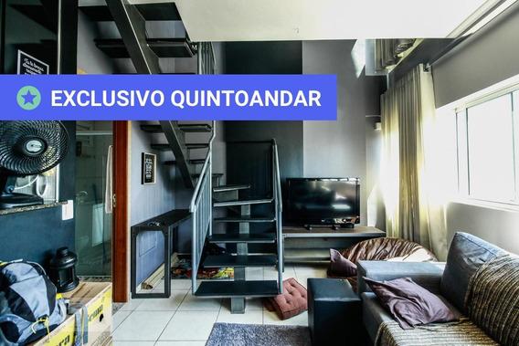 Apartamento No 15º Andar Mobiliado Com 1 Dormitório E 1 Garagem - Id: 892952125 - 252125