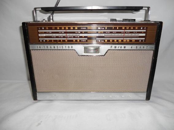 Antigo Radio Crown Trf 1400 L Japones Anos 70 Funcionando