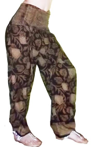 Fino Pantalón Babucha Hindú Seda Rayón De Vestir India Xl