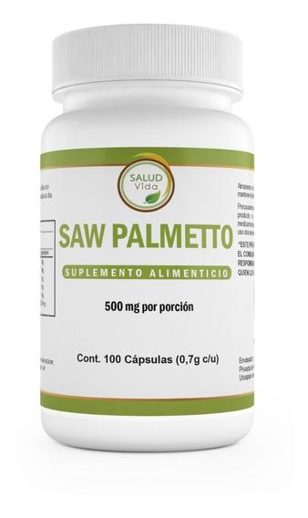 Saw Palmetto 500mg 100 Capsulas