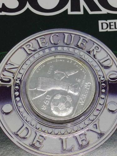 Moneda De Plata $50 Tesoros Del Mundial Mexico 86