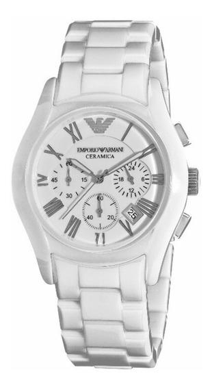Relógio Emporio Armani Ar1403 Ceramic White Ceramic Dial Fem