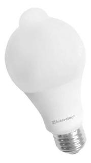 Lampara Led 10w Sensor De Movimiento Interelec Luz Fría