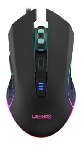 Imagem 1 de 6 de Mouse Gamer Rgb Lehmox Óptico Led