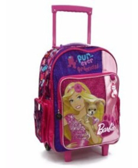 Mochila Carro Grande Barbie 18 PuLG Orig Mundo Marroquineria