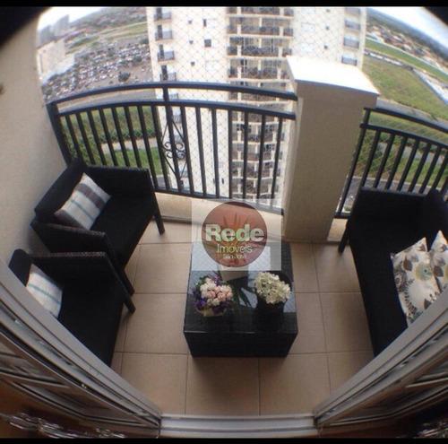 Apartamento Com 3 Dormitórios À Venda, 90 M² Por R$ 592.540,00 - Jardim Esplanada Ii - São José Dos Campos/sp - Ap4048