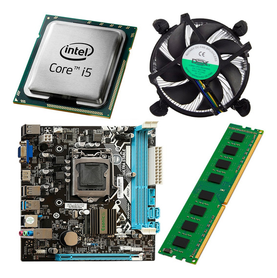 Kit Intel Processador Core I5 2400 + Placa Mãe H61 + 4gb Ram