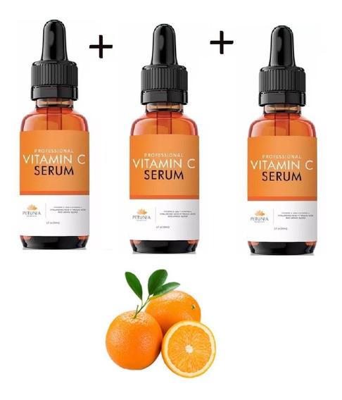 Acido Hialuronico Serum Vitamina C Clareador Anti-idade 3un