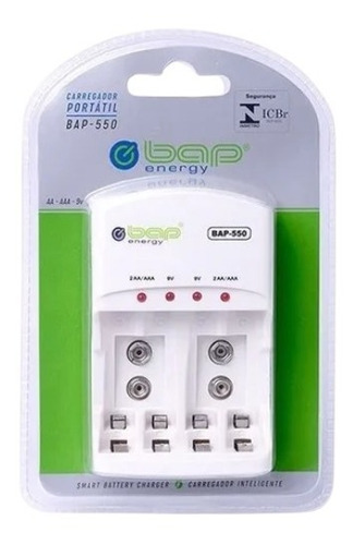Imagem 1 de 1 de Carregador De Pilhas Baterias Bi-volt Auto Stop Bap Bap-550