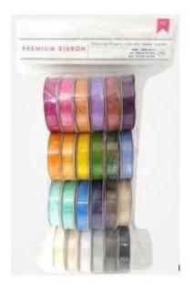American Crafts - Fitas De Organza - Coloridas