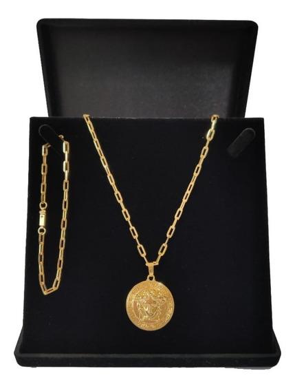 Cordão Corrente Banhada Ouro 18k Versaces