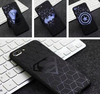 Funda Protector iPhone Tpu Superhero +mica De Cristal