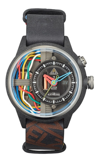 The Electricianz Modelo Carbon Z Reloj Con Luz Led Diego Vez