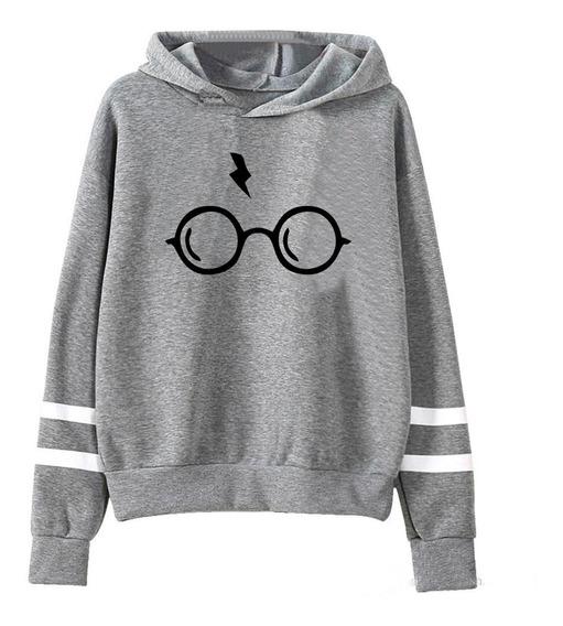 Buzo Harry Potter Lentes Cicatriz Hogwarts Hoodie