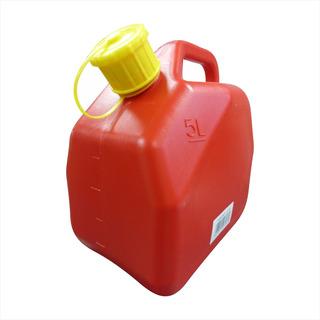 Bidon Plastico 5 Lt Rojo Jc-5l - 22057 Tienda Fisica Maf