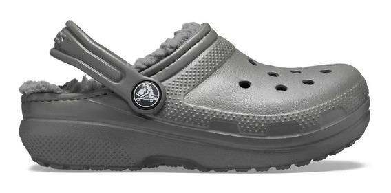 Crocs Originales Niños Corderito Classic Lined Slate Grey