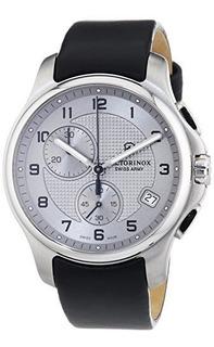 Reloj De Hombre Victorinox Swiss Army Silver Dial Ss Cuero C