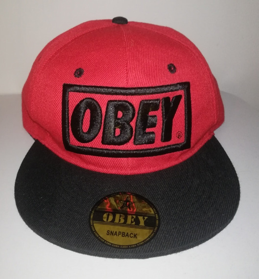 Gorra Obey Rojo / Negro Snapback