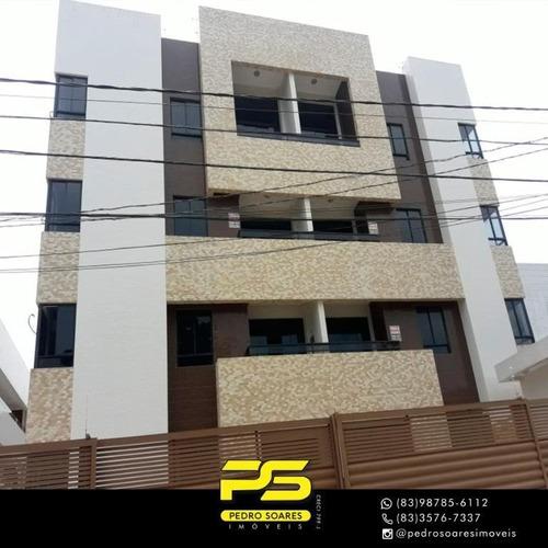 Apartamento Com 2 Dormitórios À Venda, 62 M² Por R$ 220.000 - Bancários - João Pessoa/pb - Ap3081