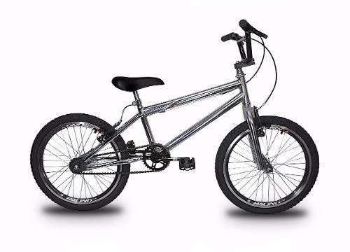 Bicicleta Aro 20 Cromada Freios V-brake Cross Frete Grátis