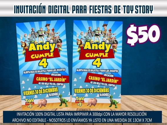 Invitación Digital Imprimible Para Fiestas De Toy Story