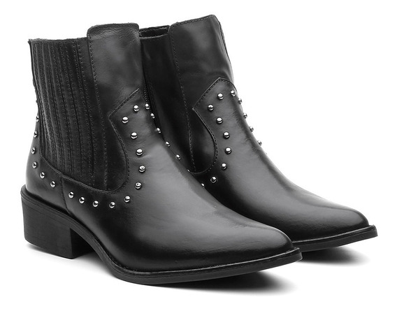 Bota Country Feminina Ankle Boot Couro Venetto Black Friday