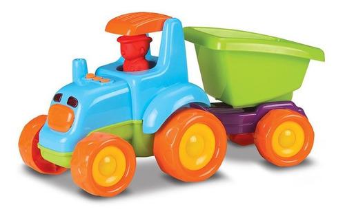 Carrinho Trator Infantil Baby Truck Com Som E Luz Roma