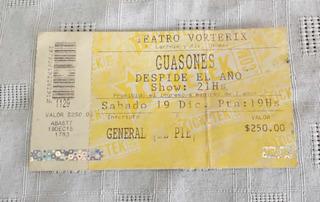 Entrada Guasones - Teatro Vorterix - Usada -