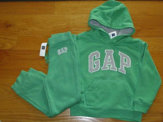 Conjunto Gap Sudadera Y Pantalon Verde Nuevo Talla 2 3 4 5