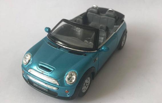 Mini Cooper S - Escala 1/28 - Azul - Miniatura Colecionável