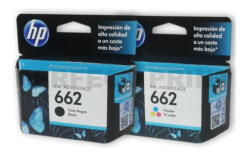 Cartuchos Hp 662 Combo Negro+color 2515 3515 2545 Originales