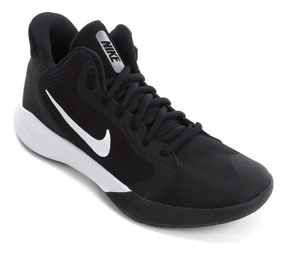 Tenis Basquete Nike Precision Iii Adulto Preto - Original