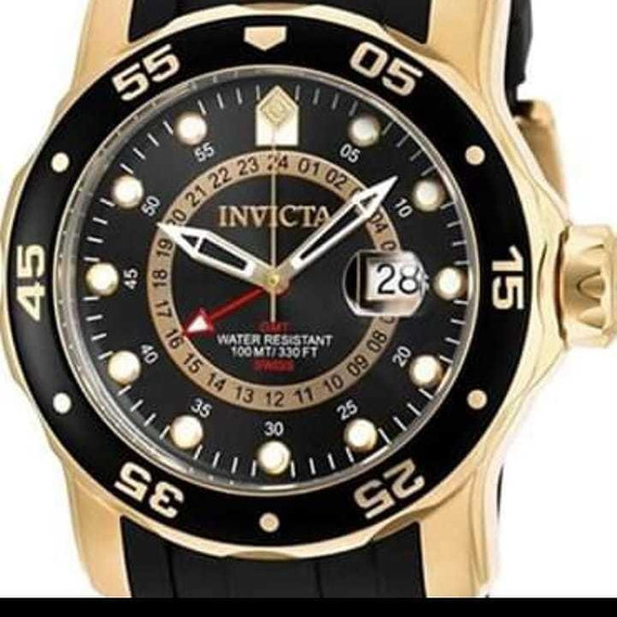 Black Friday Invicta Pro Diver 6991 Eua Banhado A Ouro 18k