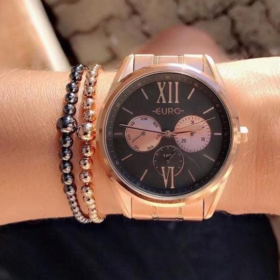 Relógio Euro Multi Glow Feminino Dourado Eu6p79ad/4p