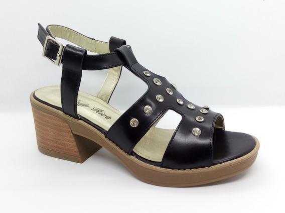 Sandalias Mujer Cuero Oferta Riot Art 3346 Zona Zapatos