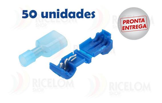 Conector Derivação Azul Para Fios 1,5 A 2,5mm - 50 Unidades